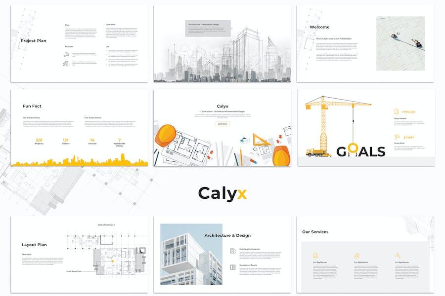 Calyx : Construction Keynote Template