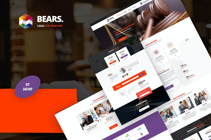 Thumbnail for Bear's - Legal Services PSD Template