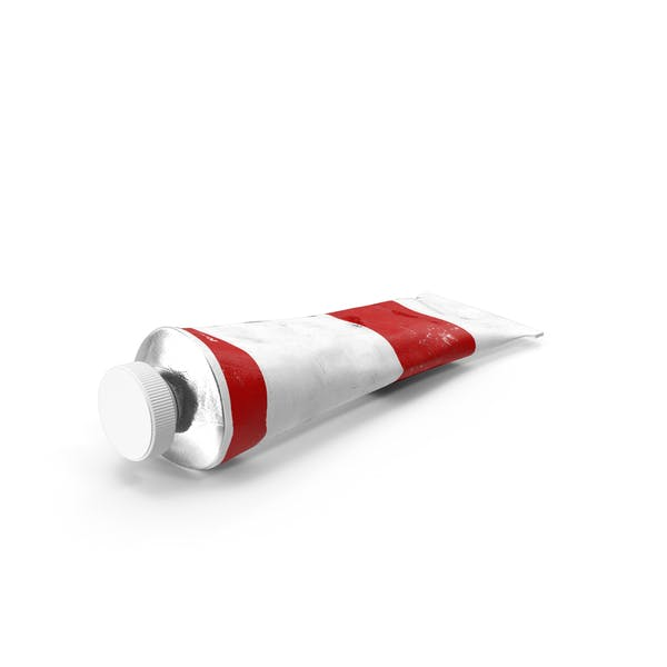 Red Acrylic Paint Tube