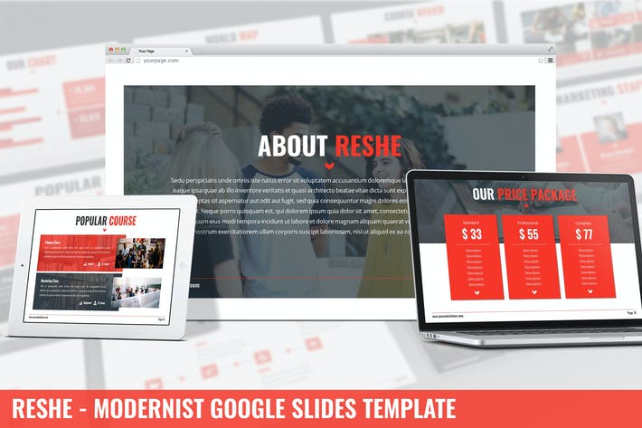 Thumbnail for Reshe - Modernist Google Slides Template