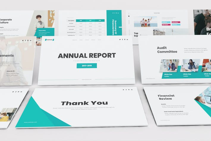 Thumbnail for Annual Report Google Slides Template