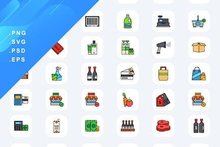 60 Supermarket Icons