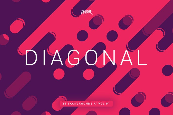 Thumbnail for Diagonal | Rounded Lines Backgrounds | Vol. 01