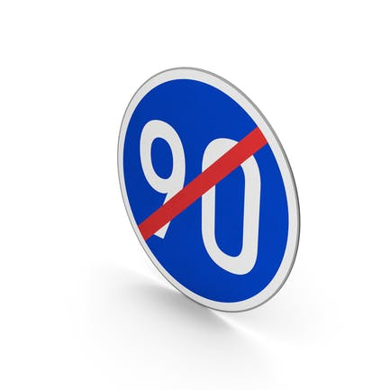 Road Sign End Minimum Speed Limit 90