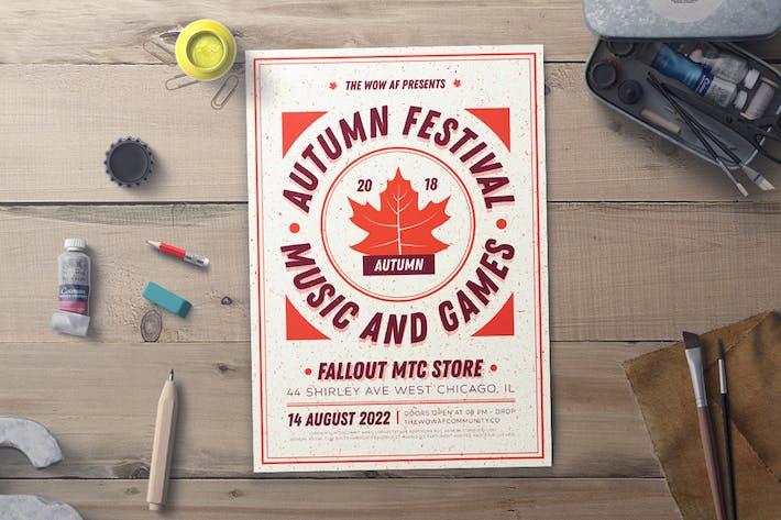 Thumbnail for Autumn Festival Flyer