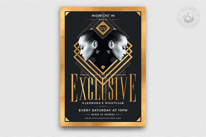 Thumbnail for Exclusive Party Flyer Template V2