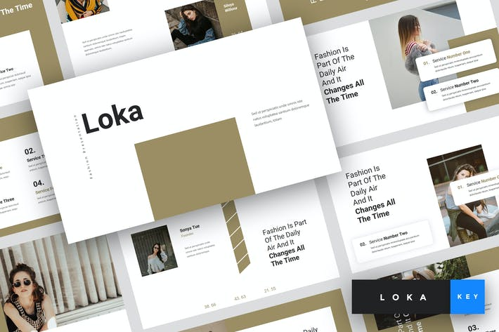 Thumbnail for Loka - Fashion Keynote Template