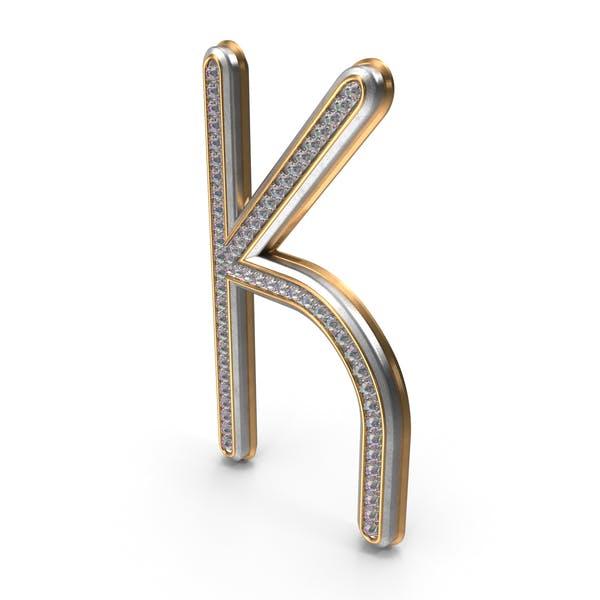Буква K с бриллиантами