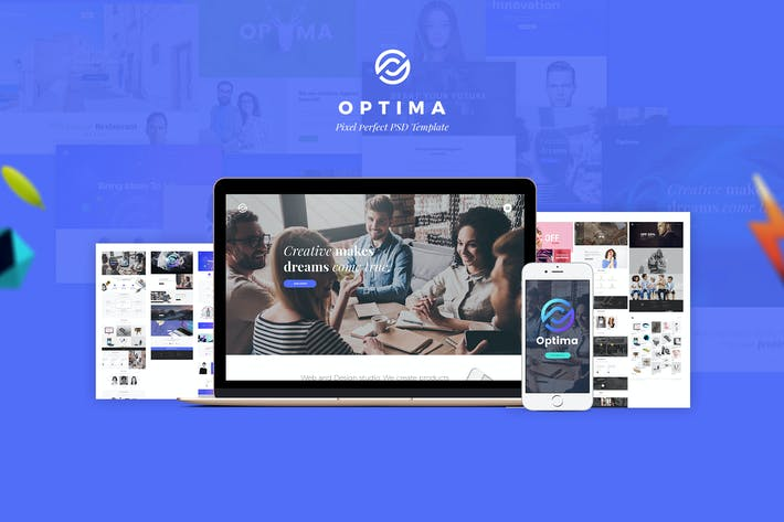Thumbnail for Optima - Creative Multipurpose PSD Template