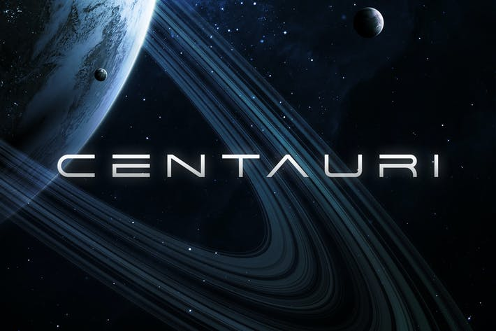 Thumbnail for Centauri - Futuristic Font