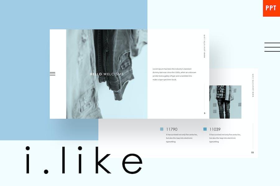 ilike - Минималистский Шаблон Powerpoint