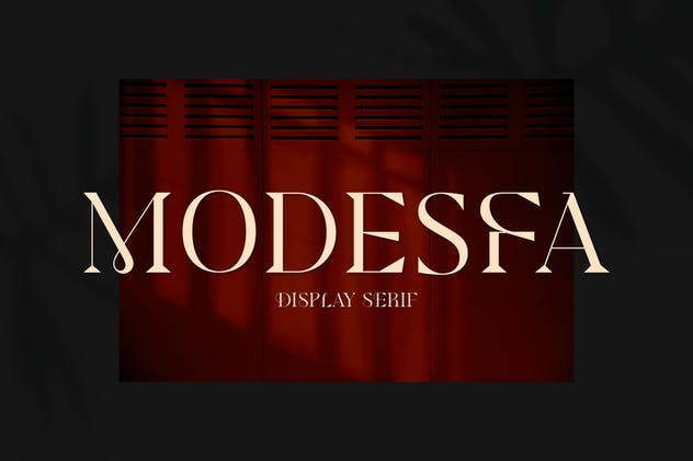 Modesfa - Modern Display Serif