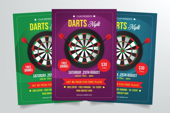 Thumbnail for Darts Night Flyer Template