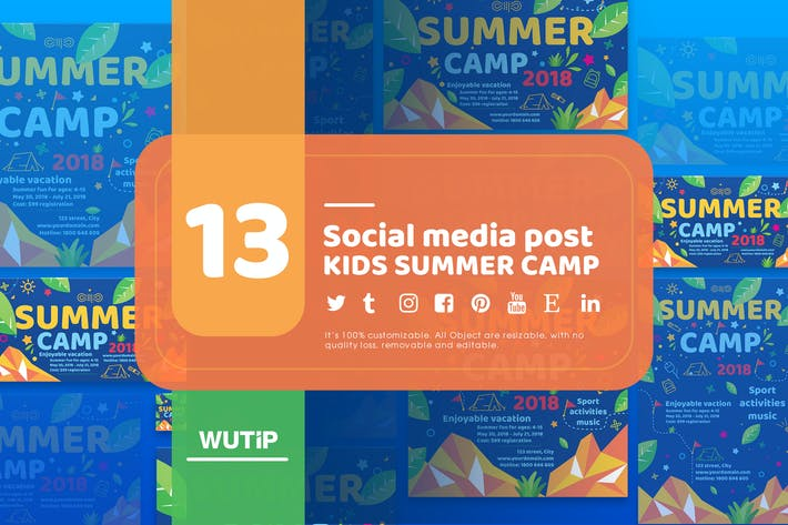 Thumbnail for 13 Social Media Post-Kids Summer Camp-Hauptdateien