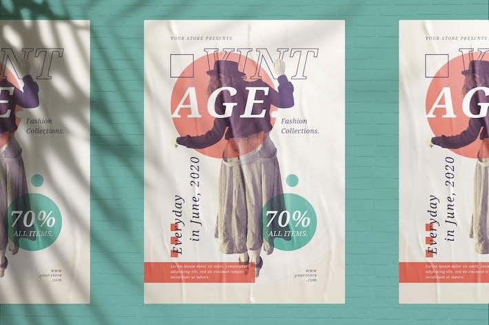 Thumbnail for Vintage Fashion Sale Flyer