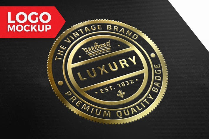 Thumbnail for Gold Logo Mock-Up