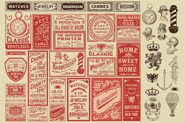 Vintage Set of Ads Layouts