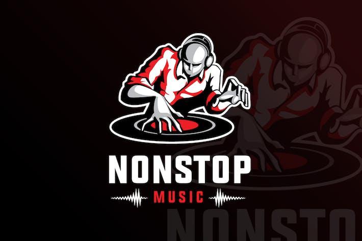 Nonstop Music Mascot & eSports Gaming Logo