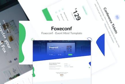 Foxeconf - Ereignis HTML-Vorlage
