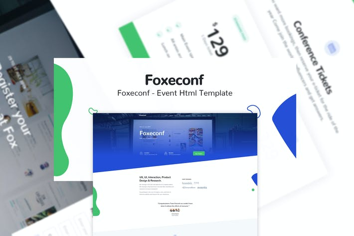 Thumbnail for Foxeconf - Event HTML Template