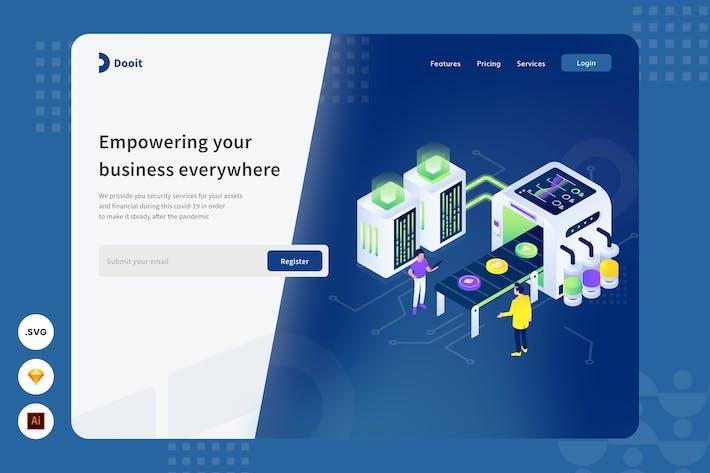 Thumbnail for Empowering Business -  Website Header Illustration