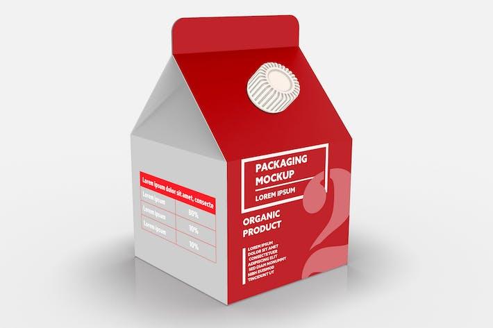 500ml Saft-/Milchkarton mit Schraubverschluss