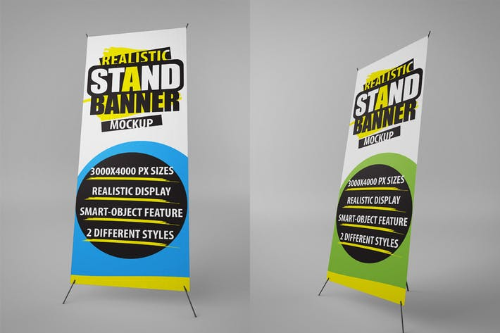 Cover Image For Stand Banner Mockups