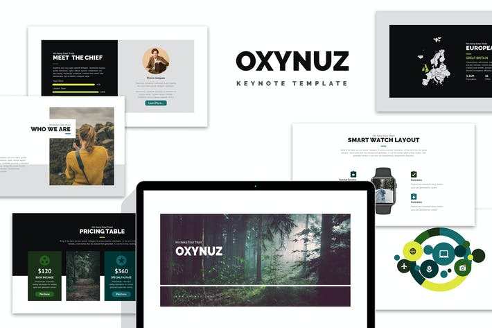 Thumbnail for Oxynuz : Minimal Style Keynote
