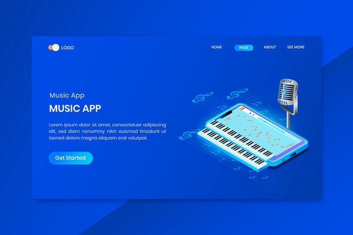 Thumbnail for Mobile Phone App Isometric Concept Landing Page
