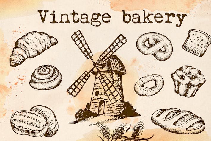 Thumbnail for Set of Vintage Bakery