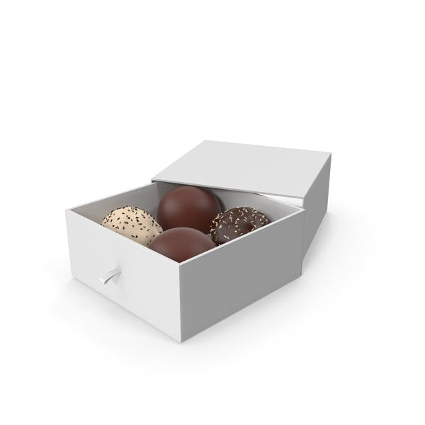4 Assorted Chocolate with White Gift Box