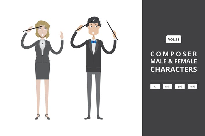 Thumbnail for Composer - Male & Female Characters Vol.38
