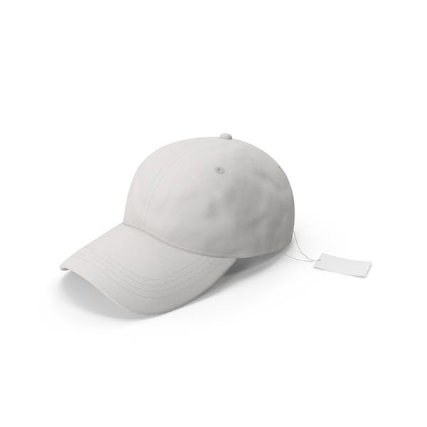 Baseball Hat Mock-up with Tag