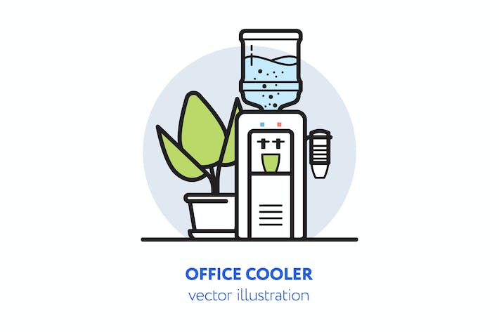 Thumbnail for Office cooler vector illustration