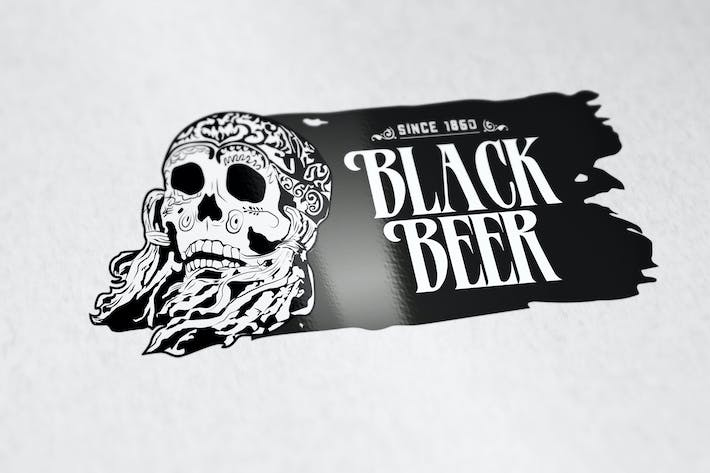 Thumbnail for Black Beer Logo Template