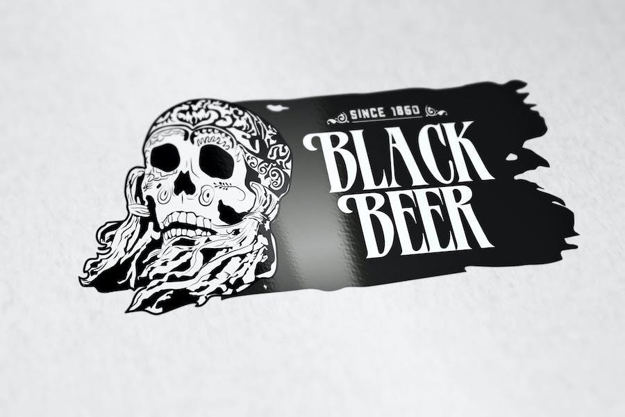 Black Beer Logo Template
