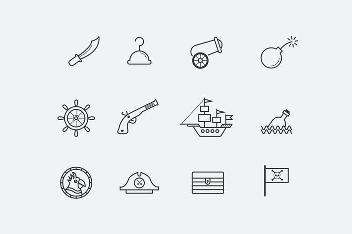 Thumbnail for 12 Pirate Icons