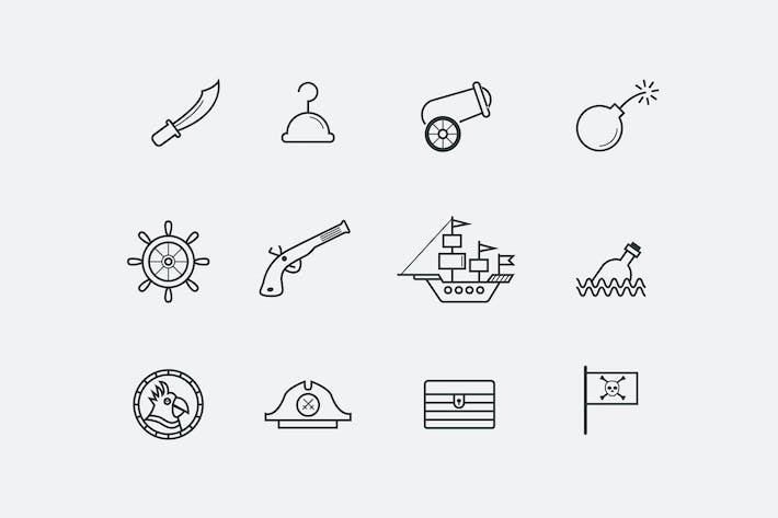 Cover Image For 12 Pirate Icons
