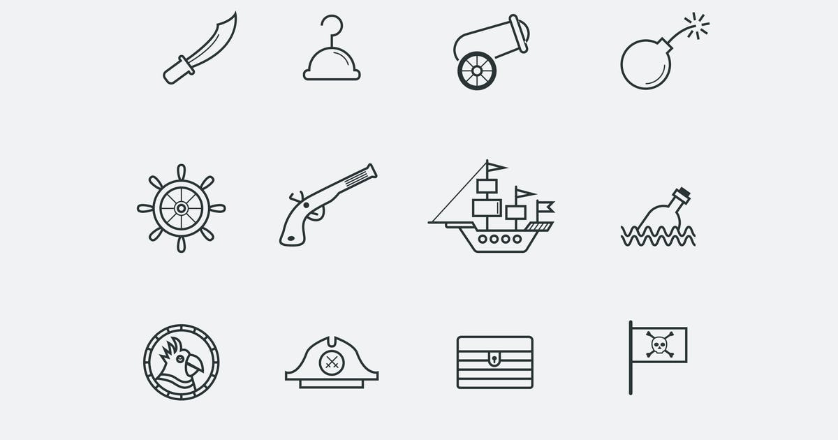 Download 12 Pirate Icons by creativevip