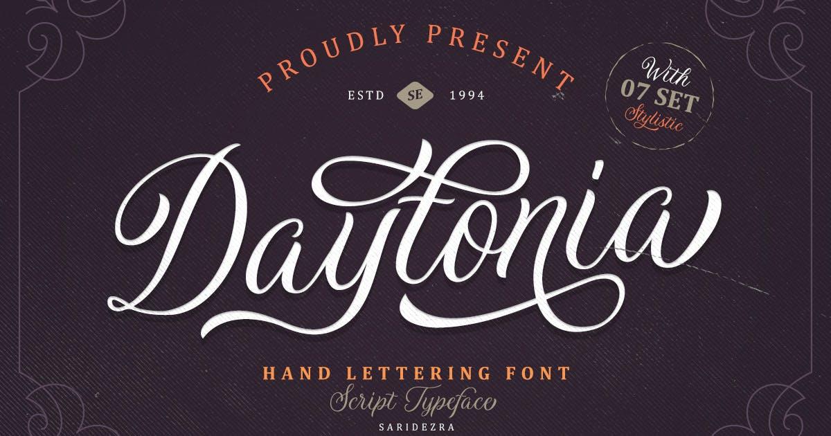Daytonia - Hand Lettering Script by saridezra