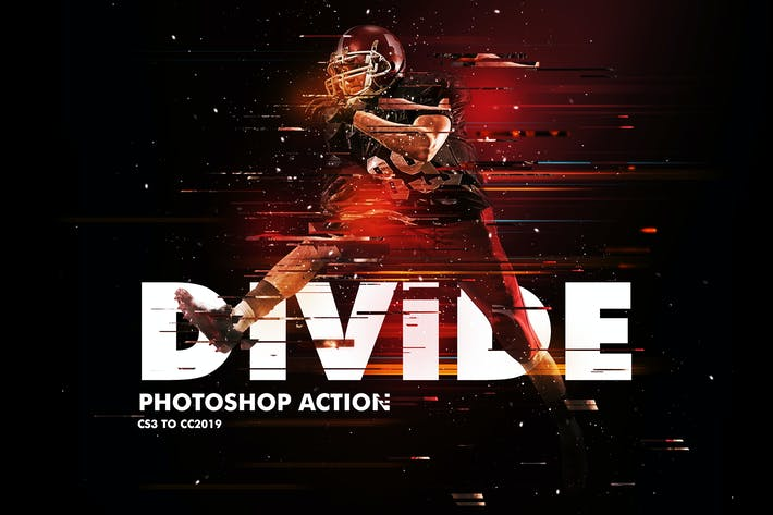 Thumbnail for Divide 2 Photoshop Action