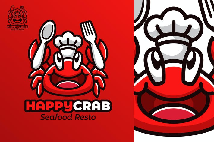 Thumbnail for HappyCrab - Mascot & Esport Logo