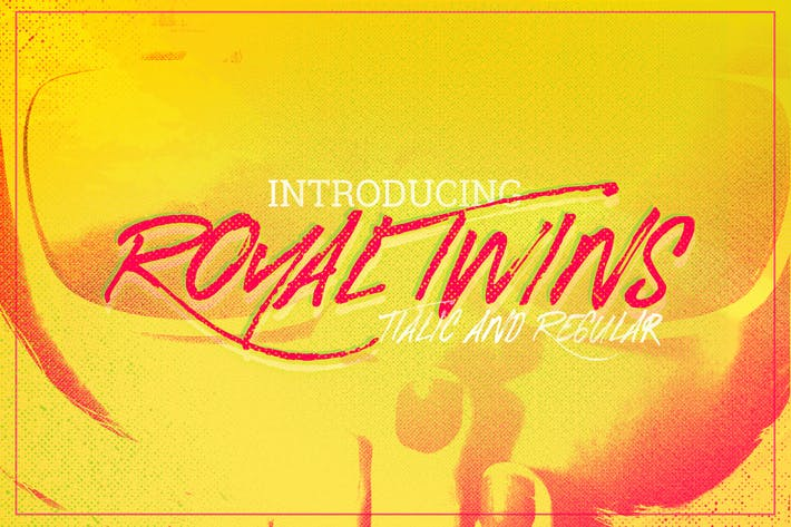 Thumbnail for Royal Twins Font