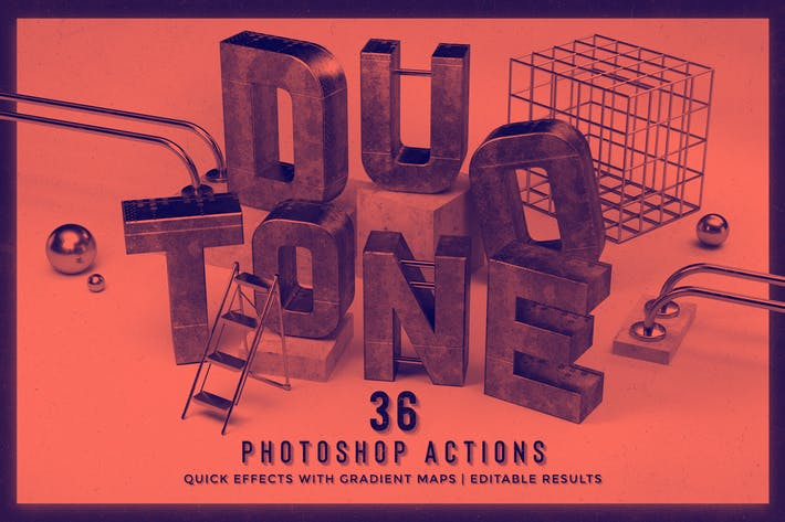 Thumbnail for Duotone Photoshop Actions