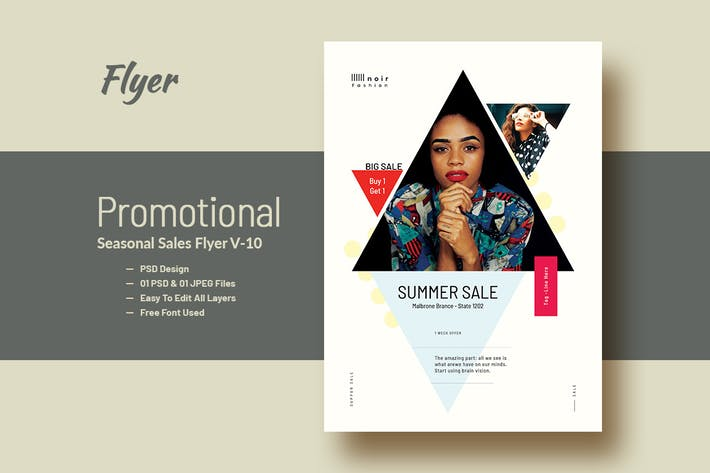 Thumbnail for Promotional Product Sales Flyer V-10
