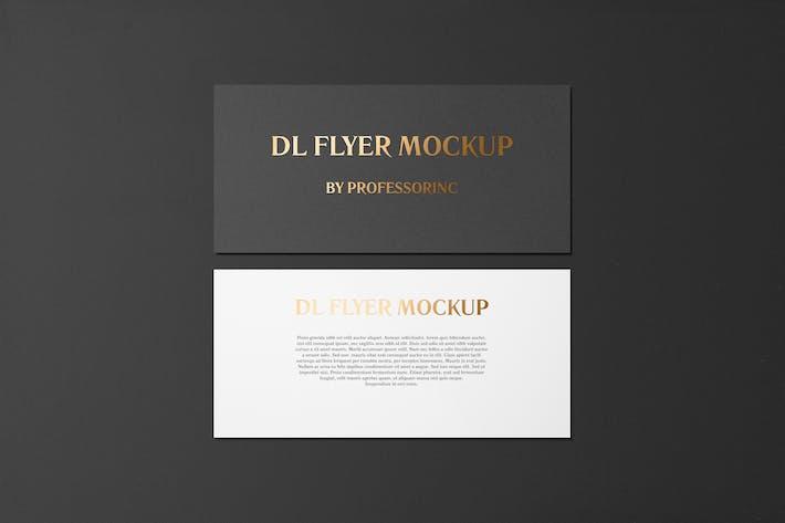 Thumbnail for DL Landscape Flyer With Foil Stamping Mockup