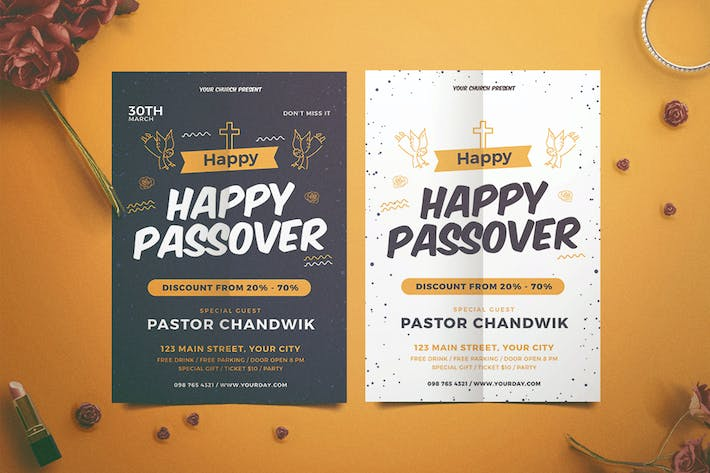 Cover Image For Happy Passover Flyer