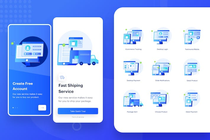 Thumbnail for Ordering Item Illustration - Mobile Onboarding