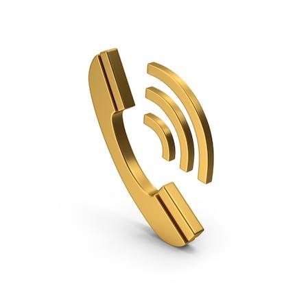 Gold Phone Symbol