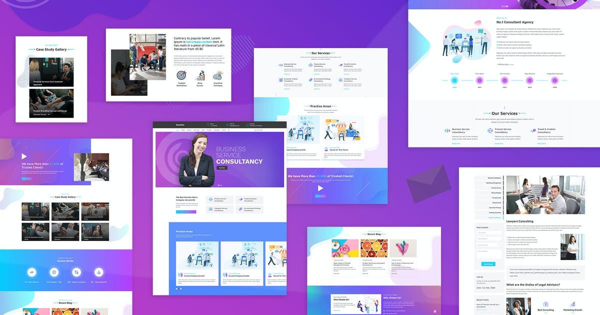 Download Concho - Consulting Service WordPress Theme by designthemes
